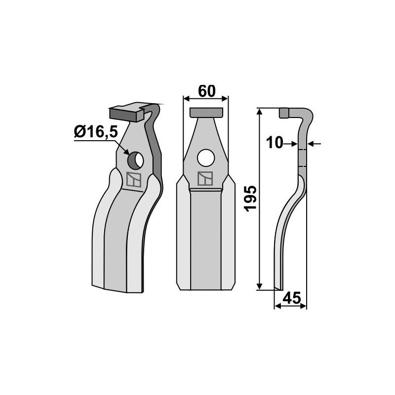 Dent rotative - Pegoraro - 6955