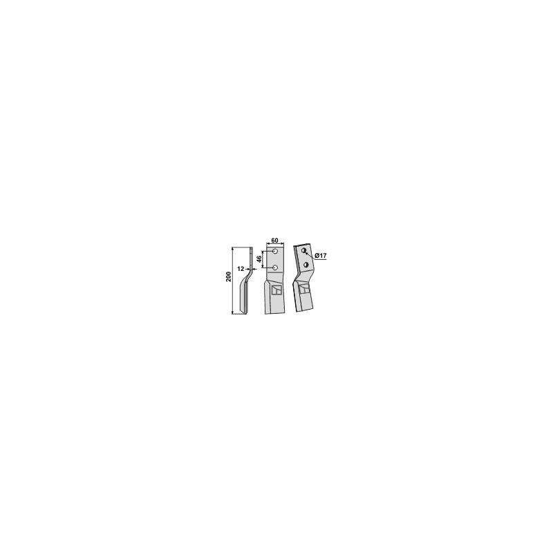 Dent rotative, modèle gauche - AG000509