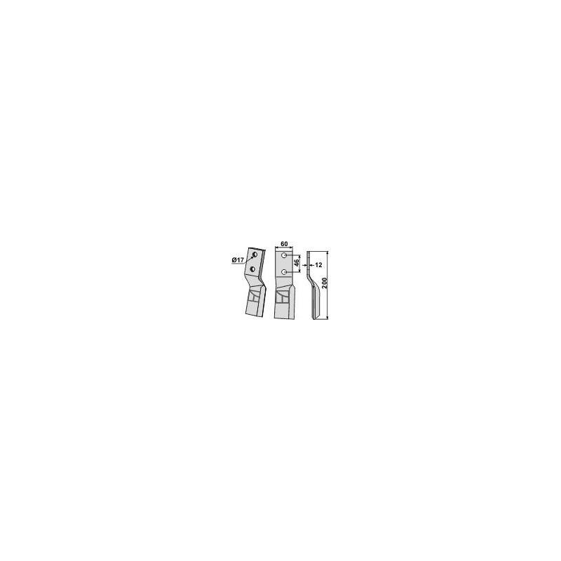 Dent rotative, modèle droit - AG000508