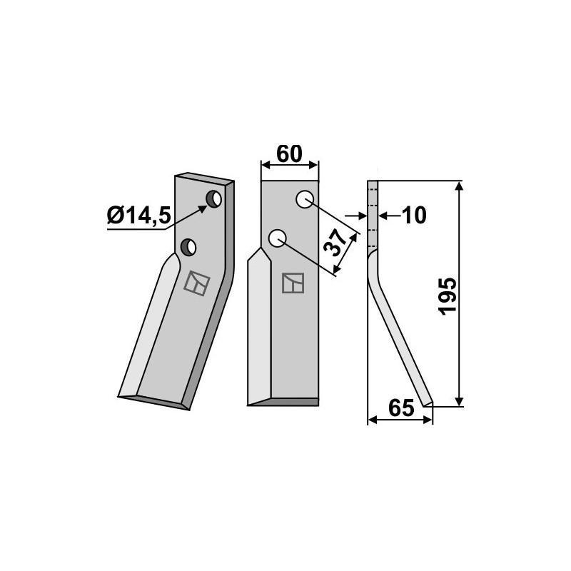 Dent rotative, modèle droit - Renter L.M.T. - RTM-RTO