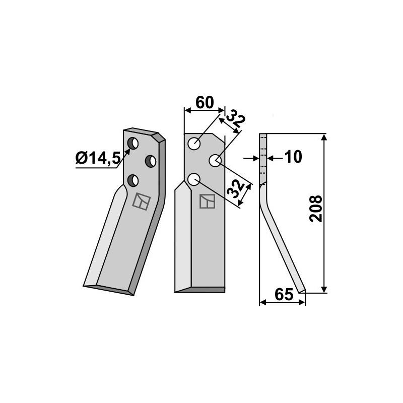 Dent rotative, modèle droit - Renter L.M.T. - RTP-RTX