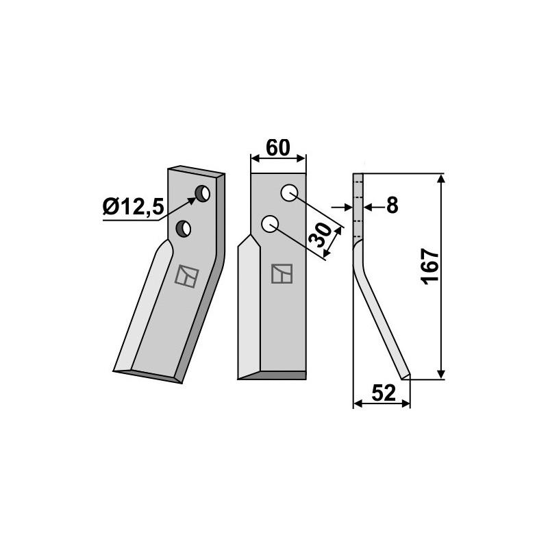 Dent rotative, modèle droit - Renter L.M.T. - RL
