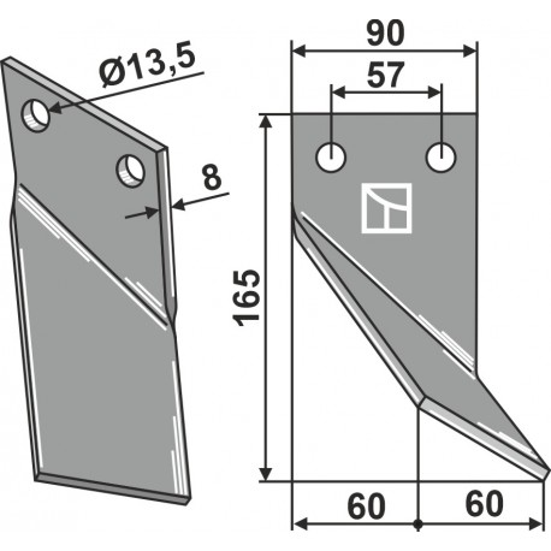 Dent rotative, modèle droit - Rota Dairon - 450.1003