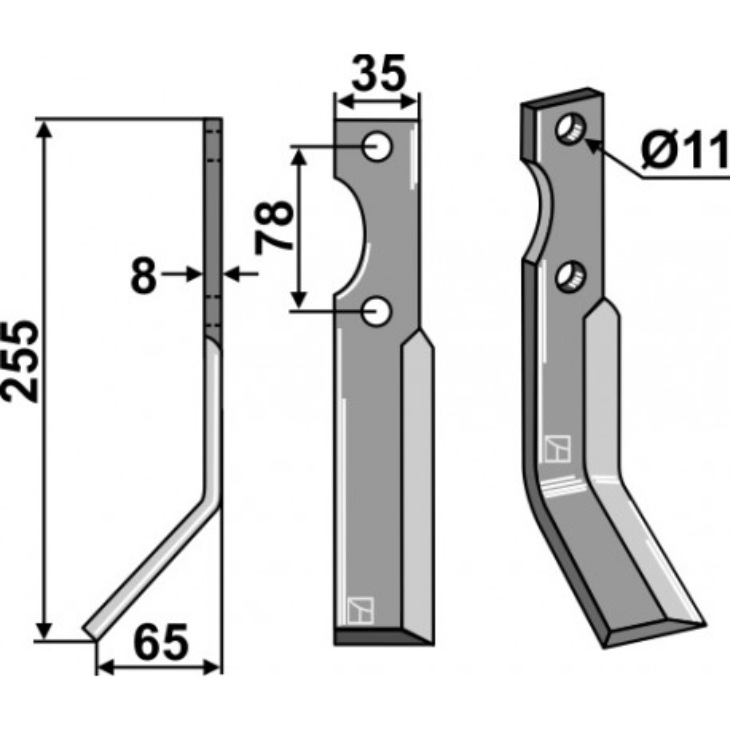 Dent rotative, modèle gauche - AG000443