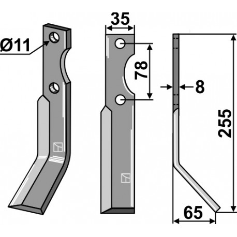 Dent rotative, modèle droit - AG000442
