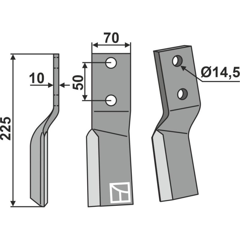 Dent rotative, modèle gauche - AG000379