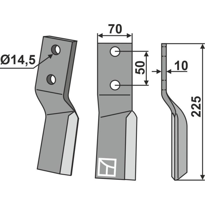 Dent rotative, modèle droit - AG000378