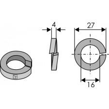 Rondelle ressort - Ø27X4XØ16 - Kuhn - 80281600