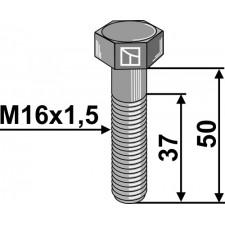 Boulon à tête hexagonale avec filet fin - M16x1,5x50 - 12.9
