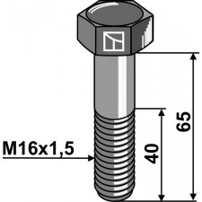 Boulon à tête hexagonale -  M16x1,5X65 - 12.9 - Rabe - 960D161565MA