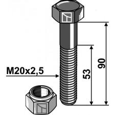 Boulon avec écrou frein - M20 - 10.9 - AG002751