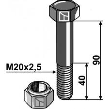 Boulon avec écrou frein - M20 - 10.9 - AG002750