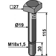 Boulon -10.9 - Berti - VTQ27M18/3921