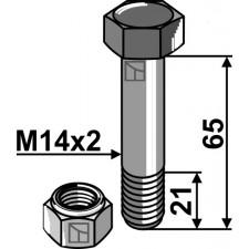 Boulon avec écrou frein - M14x2 - 10.9 - AG002623