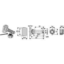Boulon M 16 x 1,5 pour couteau avec écrou à créneaux dégagés - Humus - 32592451