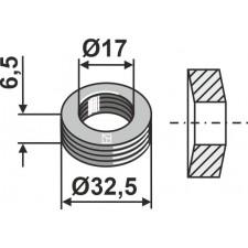 Rondelle élastique Ø32,5x6,5xØ17 - Noremat - 1.29.601