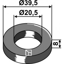 Rondelle Ø39,5x8xØ20,5