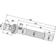 Piton de sûreté á cisaillement - Schmidt - 274601-4
