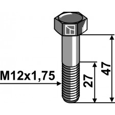 Boulon - M12x1,75 - 10.9