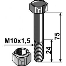 Boulon avec écrou frein - M10x1,5 - 12.9 - Votex - 45.03.170
