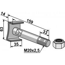 Boulon avec écrou frein - 10.9 - AG001784