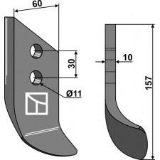 Couteau pour fossoyeuse - AG001721