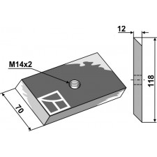 Couteau pour fossoyeuse - AG001720