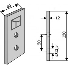 Couteau pour fossoyeuse - AG001710