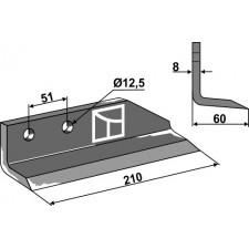 Couteau pour fossoyeuse - modèle droit - Dondi - 607002