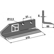 Couteau pour fossoyeuse - modèle gauche - AG001705