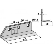 Couteau pour fossoyeuse - AG001704