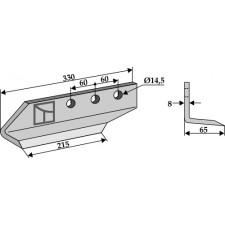 Couteau pour fossoyeuse - modèle gauche - AG001703