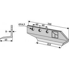 Couteau pour fossoyeuse - modèle droit - AG001702