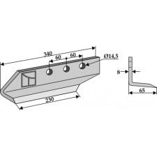 Couteau pour fossoyeuse - modèle gauche - AG001700