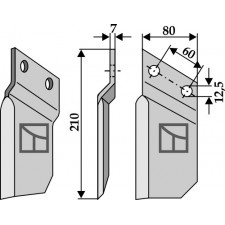 Couteau pour fossoyeuse - AG001698