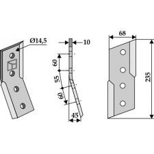 Couteau pour fossoyeuse - AG001695