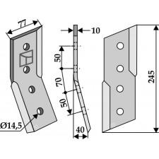 Couteau pour fossoyeuse - AG001694