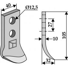Couteau pour fossoyeuse - AG001690