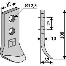 Couteau pour fossoyeuse - AG001689
