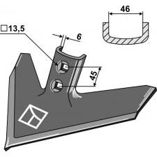 Soc triangulaire 280 x 6 - Case IH - 1547099C2