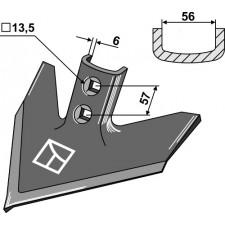 Soc triangulaire 200 x 6 - Case IH - 133765A1