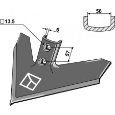 Soc triangulaire 355 x 6 - Flexi-Coil - XD50-14K