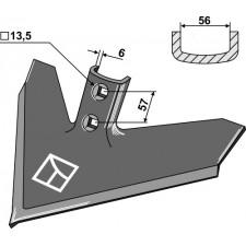 Soc triangulaire 420 x 6 - Case IH - 133769A1