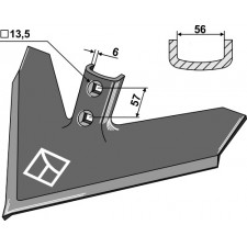 Soc triangulaire 457 x 6 - Case IH - 133770A1