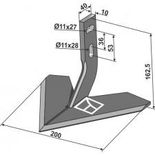 Soc à ailette 200mm - Monosem - 10100015