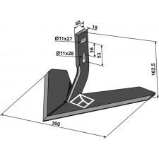 Soc à ailette 300mm - Monosem - 10100017