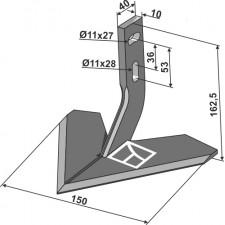 Soc à ailette 150mm - Monosem - 10100014