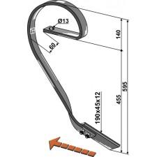 Dent niveleuse, modèle droit - Kverneland - RF29726X1