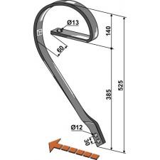 Dent niveleuse, modèle gauche - AG004126