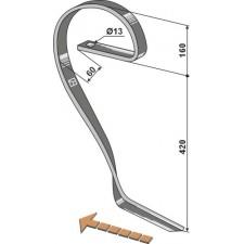 Dent niveleuse, modèle droit - Rau - E 17592